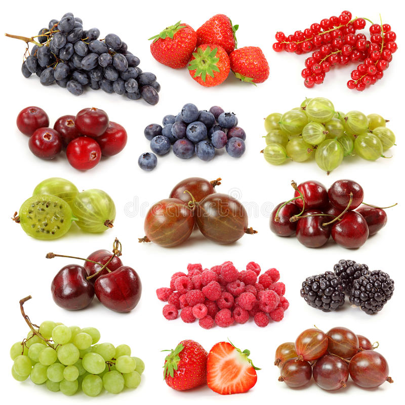 Free Fresh Berries Collection Royalty Free Stock Photos - 14069398
