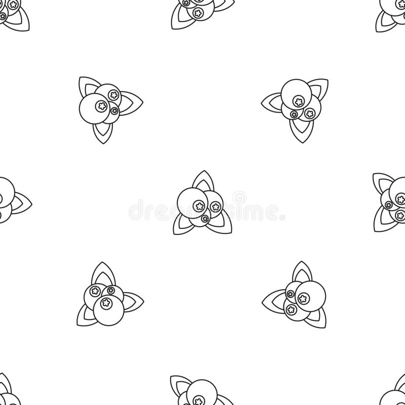 Fresh berries pattern seamless vector royalty free illustration