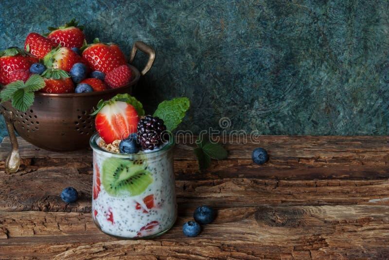Download Fresh berries and yogurt stock photo. Image of meal, dessert - 89341976