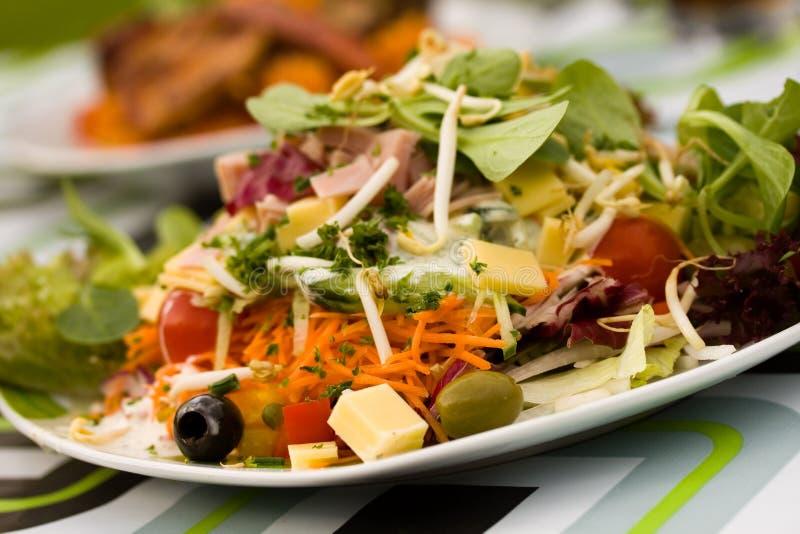 Fresh ,big italian summer salad stock images