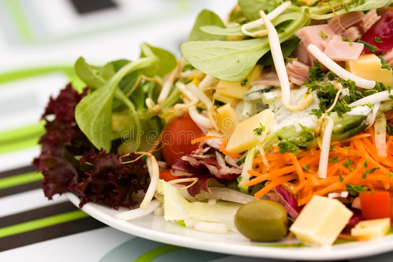 Fresh ,big italian summer salad royalty free stock image