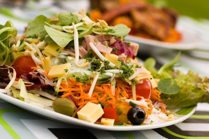 Fresh ,big italian summer salad stock photos