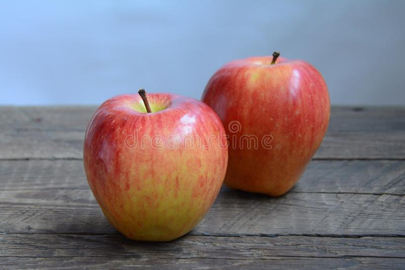 Fresh big red apple. Big red apple from garden stock images