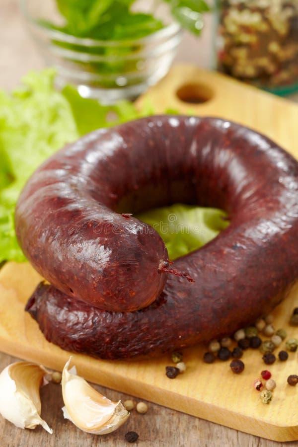 Fresh Blood Sausage Royalty Free Stock Photos