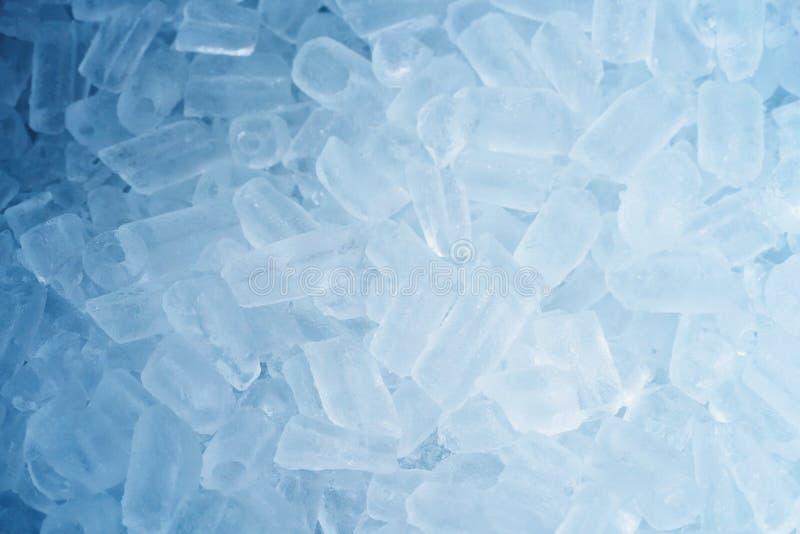 fresh blue ice cubes background stock photo