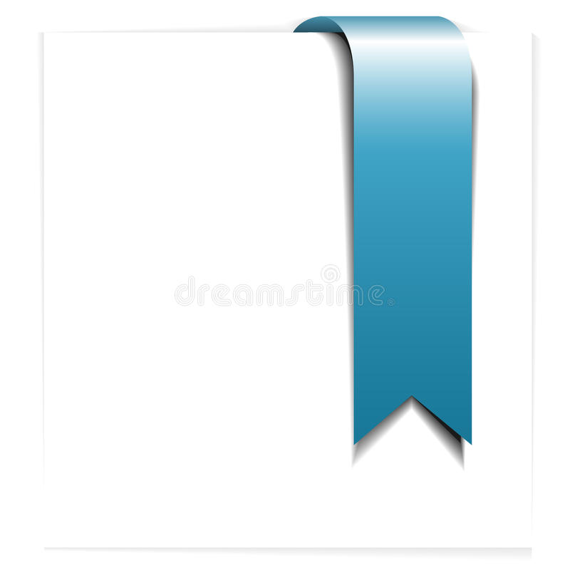 Download Fresh Blue Ribbon - Bookmark Stock Vector - Image: 10476725