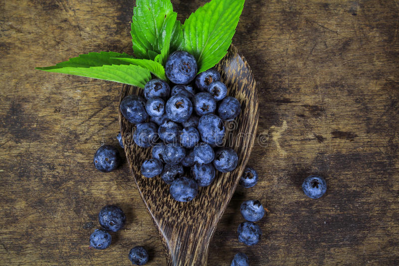 Fresh blueberry with leaf royalty free stock images