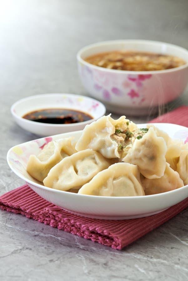 Fresh Boiled Dumplings stock images