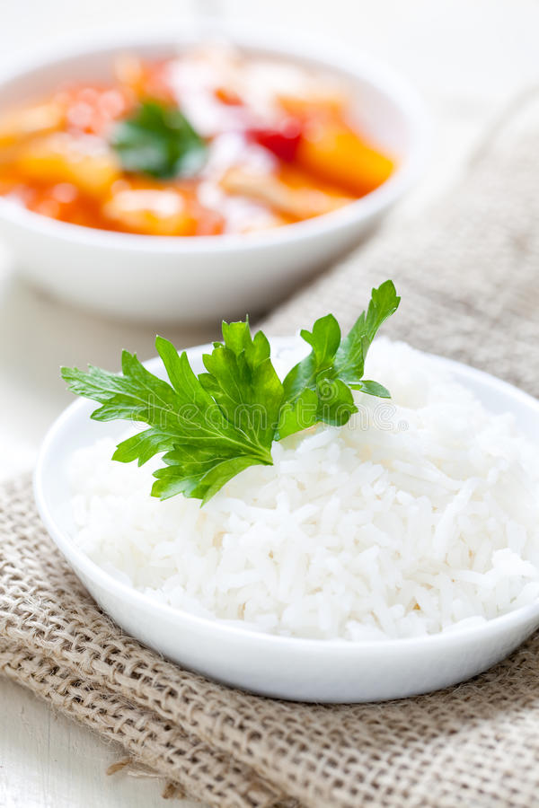 Fresh Boiled Rice Royalty Free Stock Photo