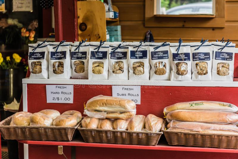 Hudson Valley Country Store Bread Shelf stock images