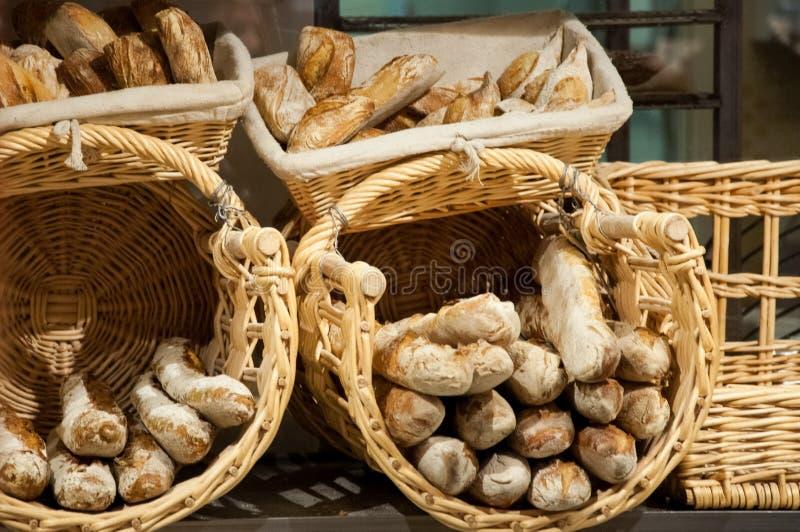 Fresh bread in the bakery royalty free stock photo