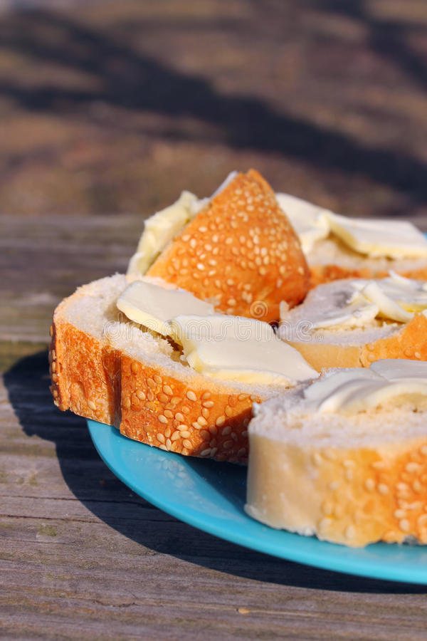 Download Fresh bread with butter stock image. Image of breakfast - 30325313