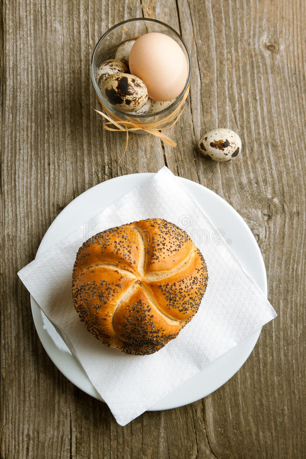 Fresh Bread And Eggs Stock Image