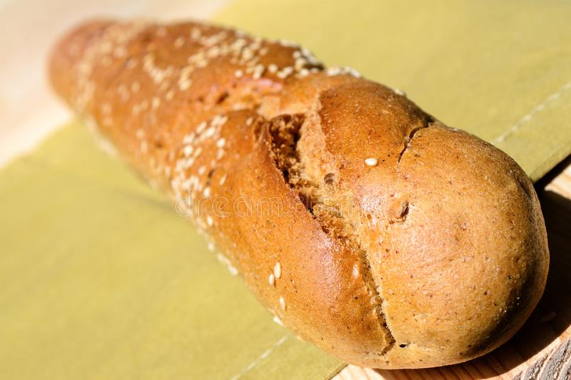 Fresh bread loaf with a crisp stock photo