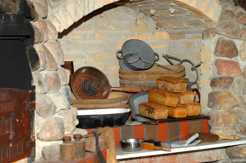 Download Fresh Bread In Old Bakery Stock Image Of Nutrition