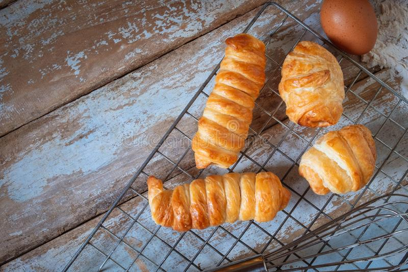 Fresh bread from the oven stock photography