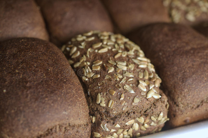 Fresh bread on the shelf royalty free stock photography