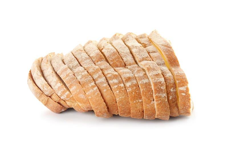 Fresh bread on white. Baked goods. Fresh bread on white background. Baked goods stock photography