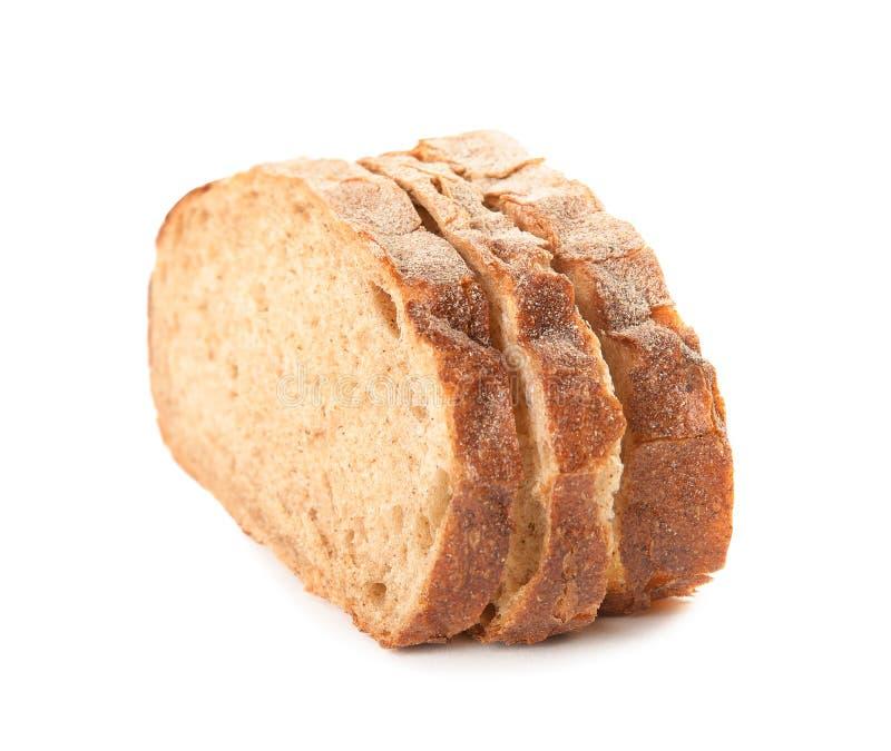 Fresh bread on white background. Baked goods stock photos