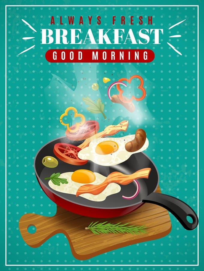 Fresh Breakfast Poster vector illustration