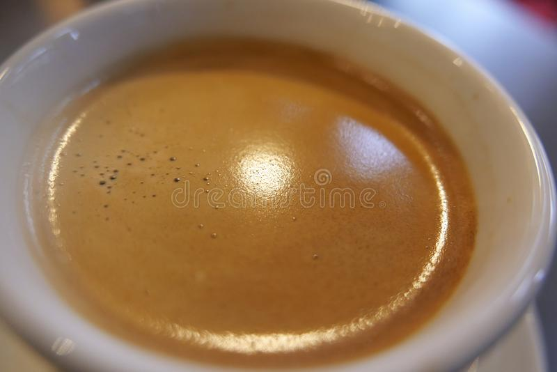 Fresh brewed cafe crema royalty free stock photo