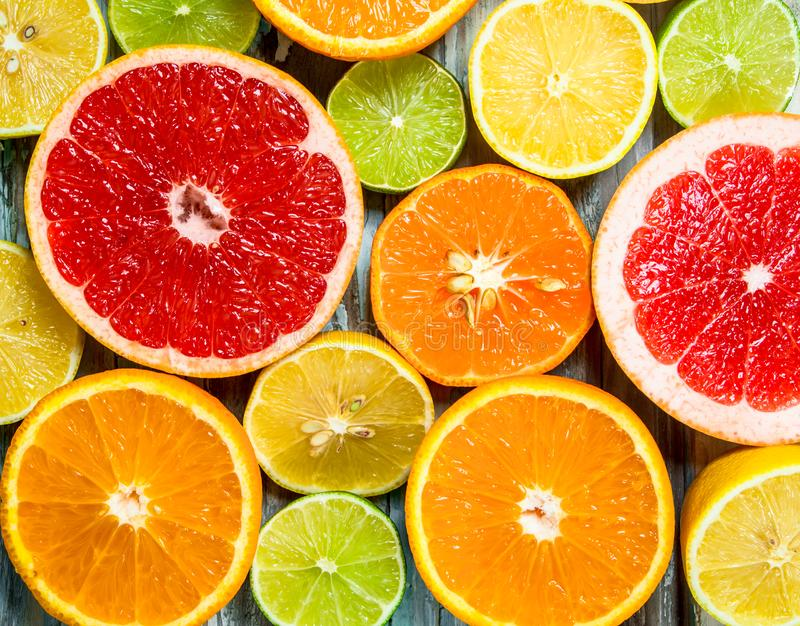 Fresh bright citrus royalty free stock images