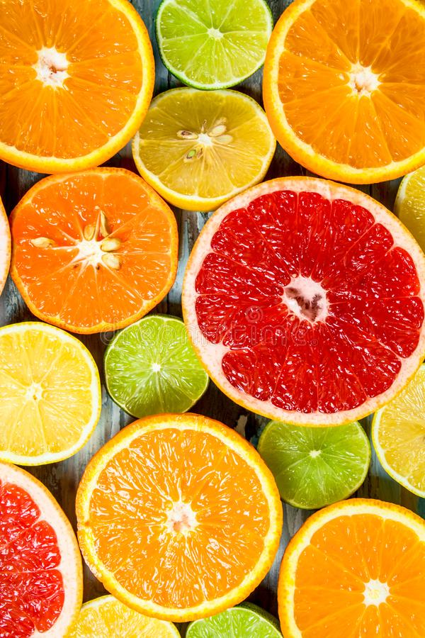 Fresh bright citrus royalty free stock photography