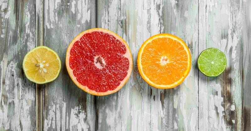 Fresh bright citrus stock photography