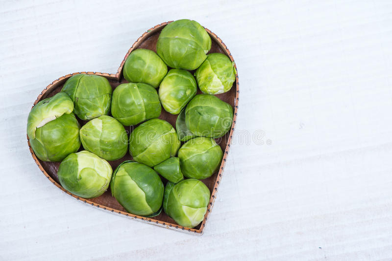 Fresh broccoli in heart shape royalty free stock photography