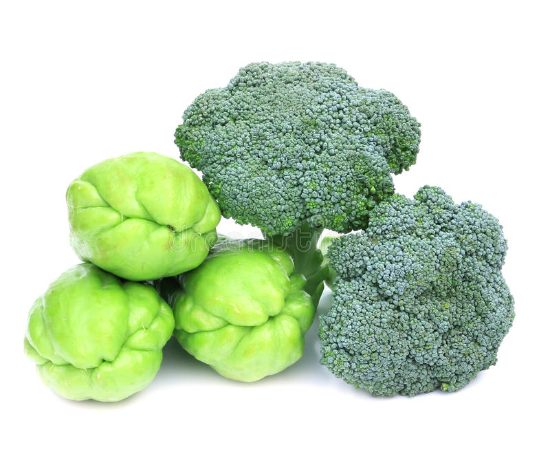 Fresh Broccoli and Mara Thai royalty free stock photos