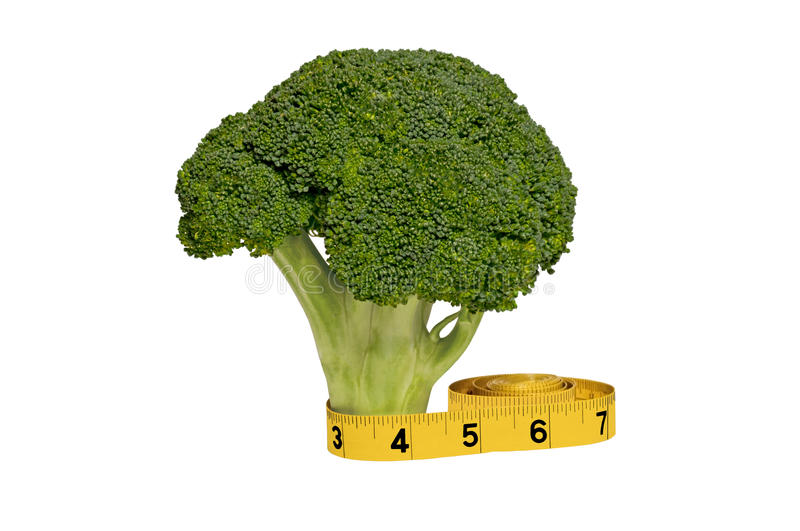 Download Broccoli and tape measure stock image. Image of green - 28049901