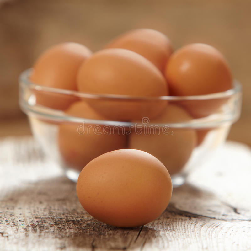 Fresh brown eggs stock image. Image of brown, chicken