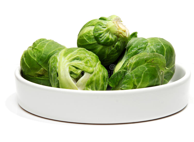 FResh Brussel sprouts royalty free stock photo