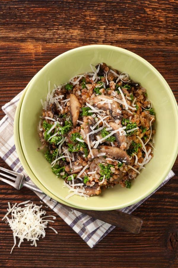 Fresh buckwheat risotto. royalty free stock photography