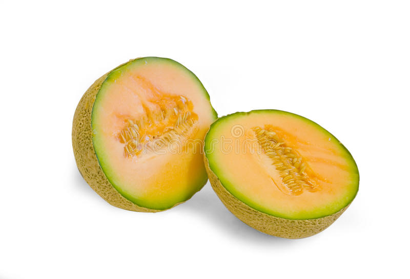 Fresh cantaloupe melon stock image