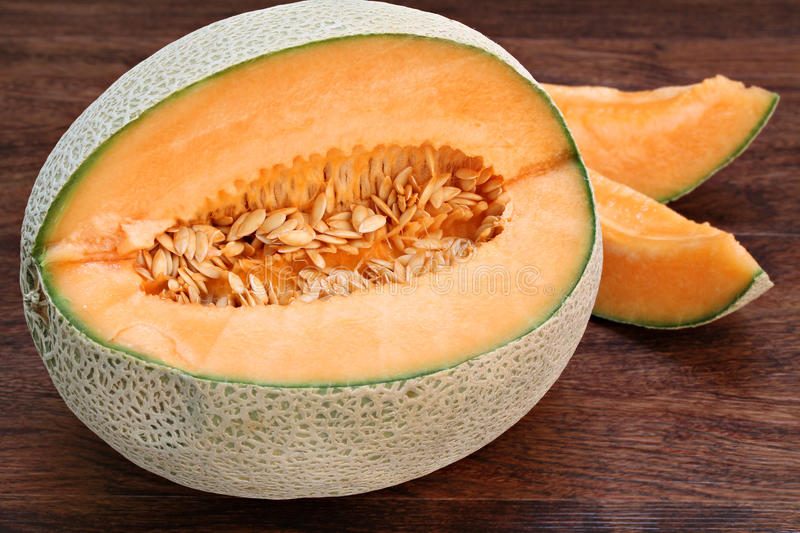 Fresh Cantaloupe or Muskmelon royalty free stock image