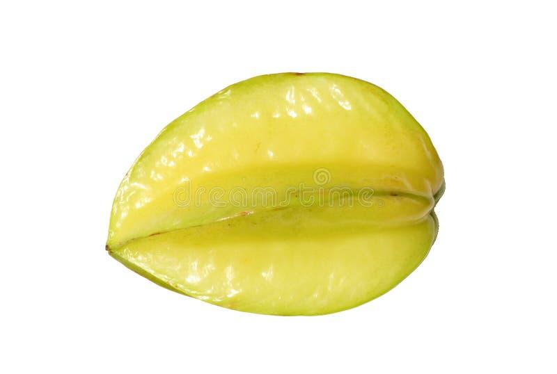 Fresh carambola or star fruit isolated on white background stock images