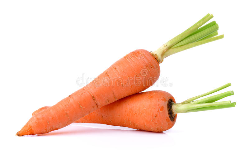 Fresh carrot isolated on a white background stock images