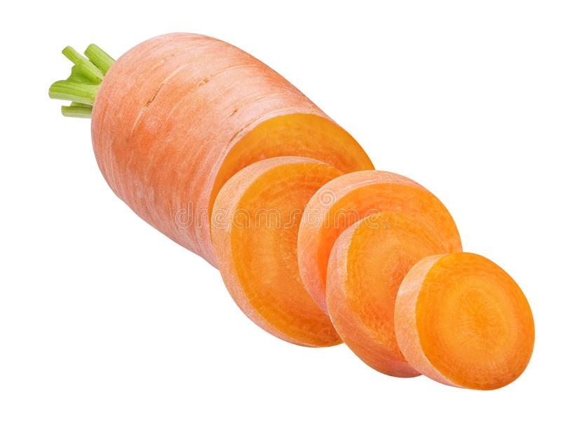 Fresh carrot isolated on white background. With clipping path stock images