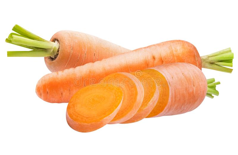 Fresh carrot isolated on white background. With clipping path royalty free stock images