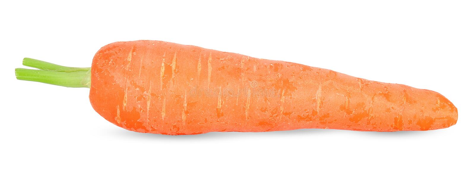 Fresh carrot isolated on white clipping path. Fresh carrot isolated on white with clipping path royalty free stock images