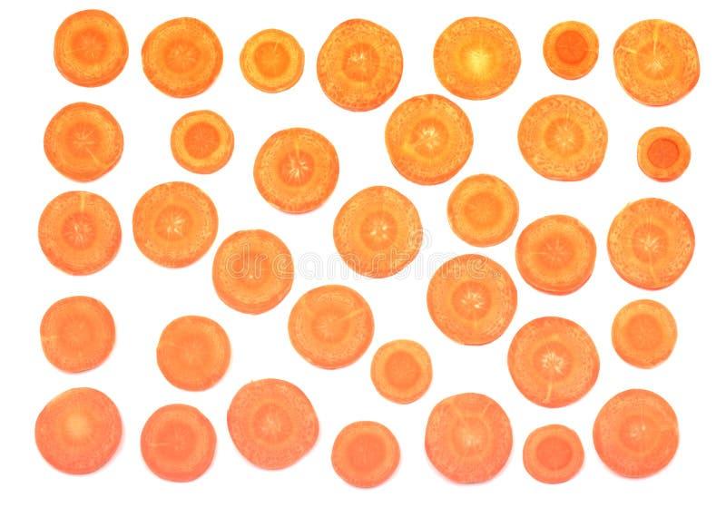 Fresh carrot slices stock image