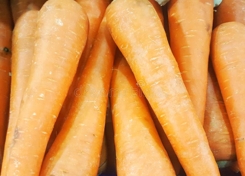 Fresh carrot sold in the market, Vegetable royalty free stock images