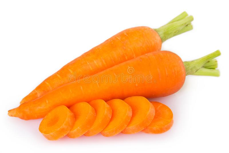 Fresh carrot on white background stock photo