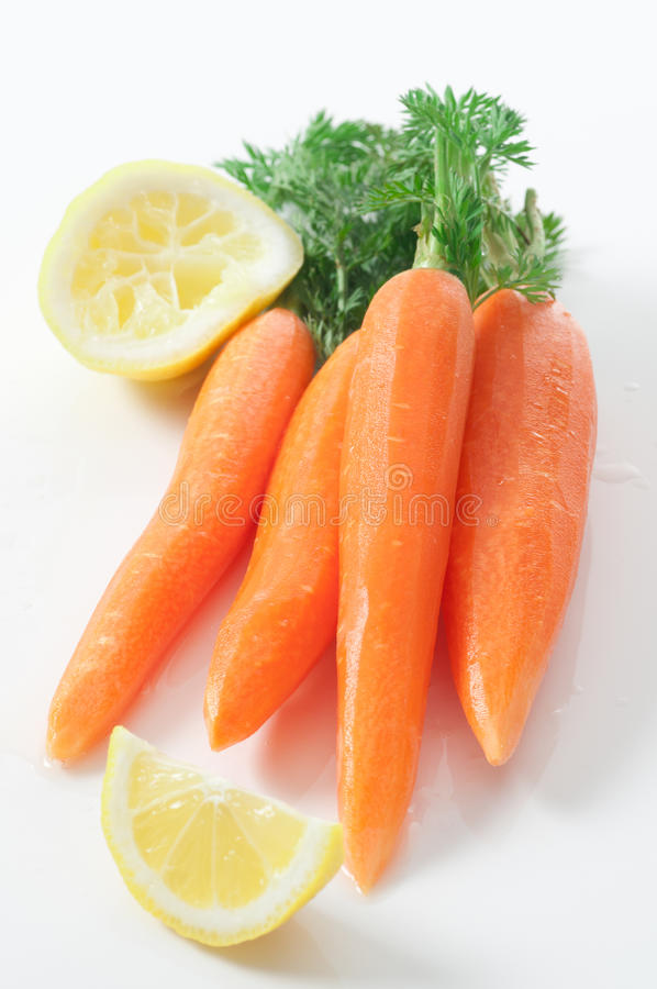 Download Fresh Carrots stock photo. Image of lemon, fresh, peeled - 24185018