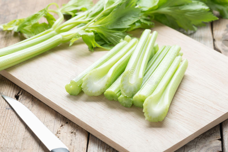 Fresh celery chopped. royalty free stock image