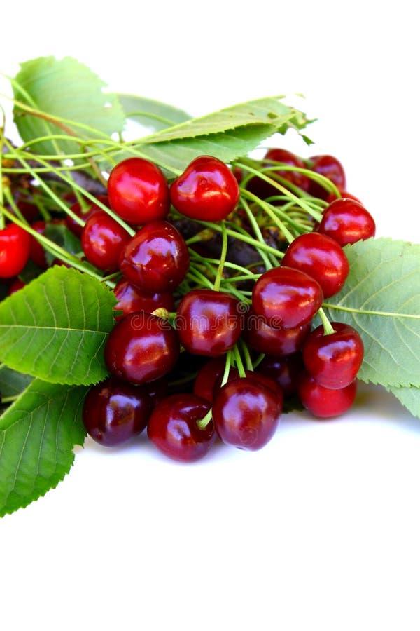 Fresh cherries. Fresh delicious cherries ready to be eaten stock image