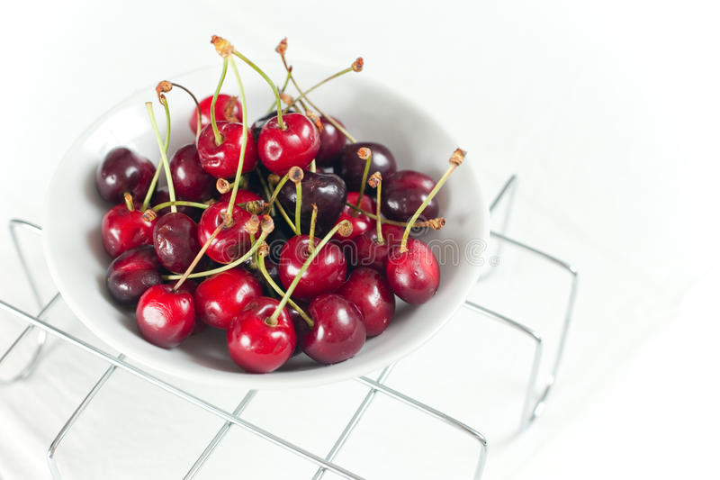 Download Fresh Cherries stock image. Image of fruit, white, stem - 14649465