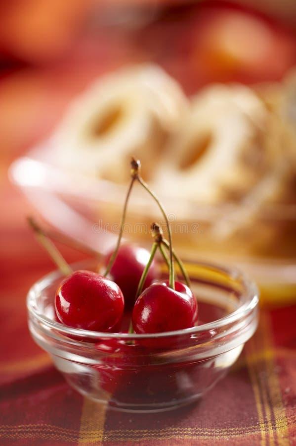 Fresh Cherries Stock Photography