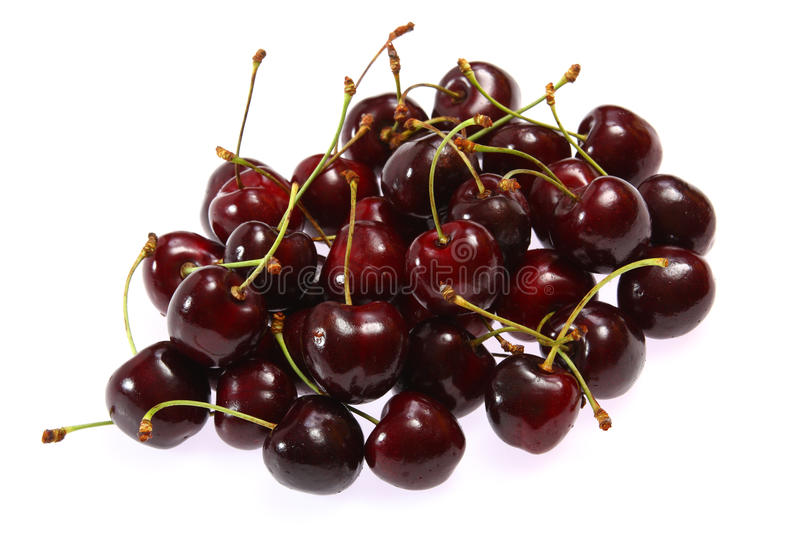 Download Fresh Cherries On White Background Stock Image - Image: 13287377